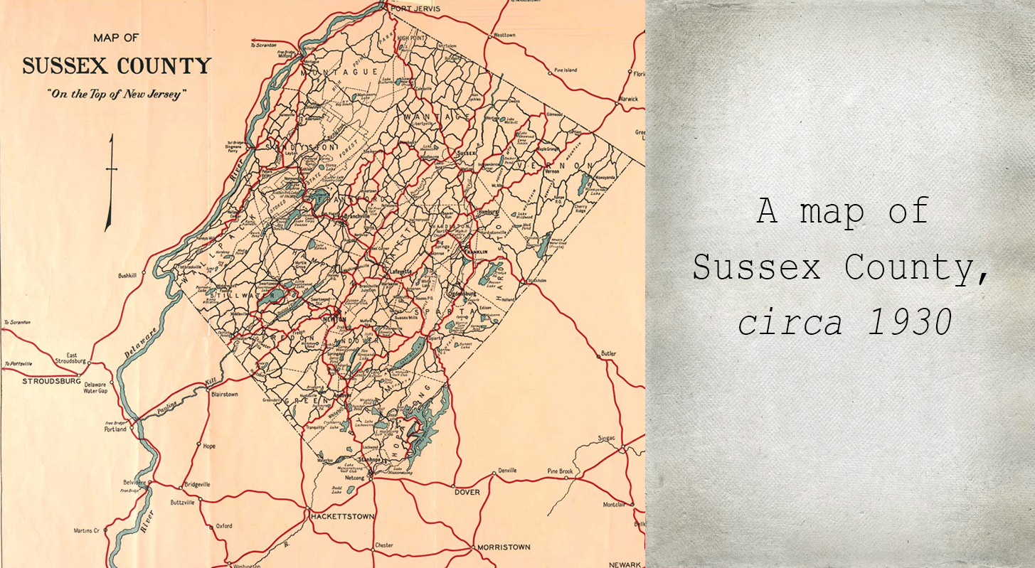 Map of Sussex County, 1930
