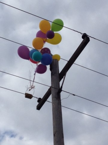 Keep balloons away from power lines if possible to prevent potential outages