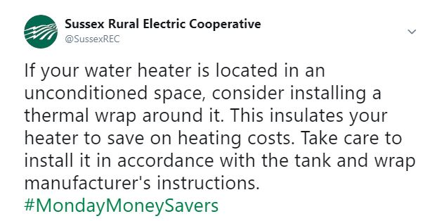 If your water heater is located in an unconditioned space, consider installing a thermal wrap around it. This insulates your heater to save on heating costs. Take care to install it in accordance with the tank and wrap manufacturer's instructions.