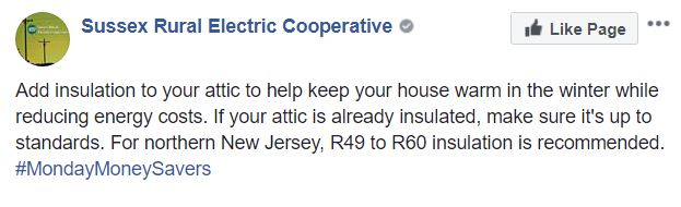 Add insulation to your attic to help keep your house warm in the winter, reducing energy costs. If your attic is already insulated, make sure it's up to standards. For northern New Jersey, R49 to R60 insulation is recommended.