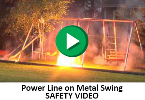 Power Line on Metal Swing - SAFETY VIDEO