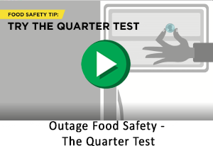 Outage Food Safety - The Quarter Test